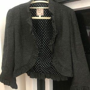 Nanette Lepore Polka Dot Blazer Jacket